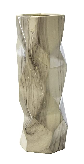 Amazon.com: Sagebrook Home VC10276-02 Facet Vase, Gray Ceramic, 5.5 on cancer research flowers, radiation flowers, pulmonary flowers, therapeutic flowers, open heart flowers, imaging flowers, most common flowers,