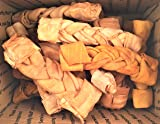 "Pet Treats Place WELCOME to SUMMER SALE !!! 6"" Beef & Chicken Rawhide Braided Rolls 10 Pack"