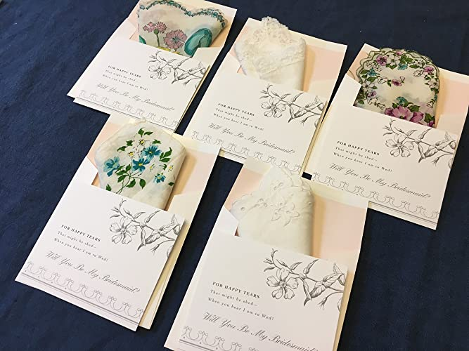 amazon com for happy tears bridesmaid invitations 5 pack will you