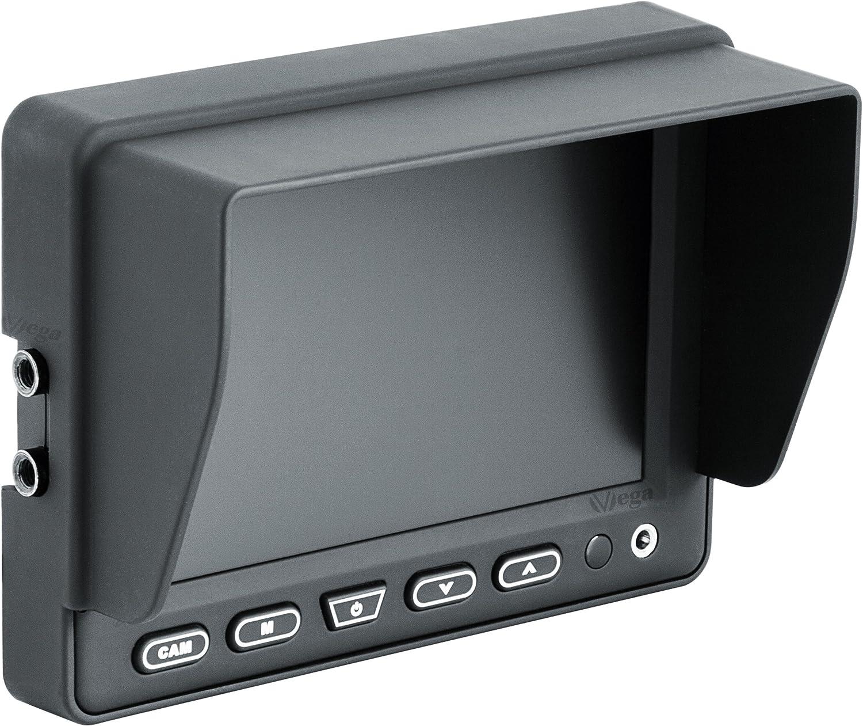 Einbaurahmen nur 21mm tief f/ür KFZ /& PKW VSG 7 Einbaurahmen Monitor f/ür Kopfst/ützen inkl Kopfst/ützenmonitor