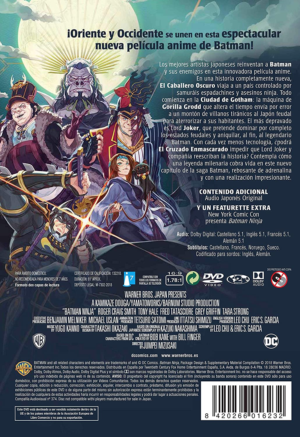 Batman Ninja [DVD]: Amazon.es: Personajes Animados ...