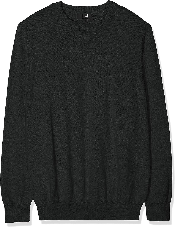 Marca Amazon - MERAKI Jersey de Algodón Hombre Cuello Redondo