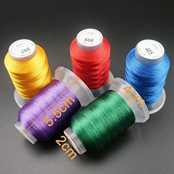 New brothread 63 Brother Colores 500M(550Y) Poliéster Máquina ...