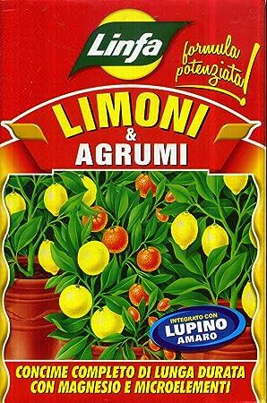 Abono para limones y cítricos organomineral, de alta fertilidad biológica, en paquete de 1 kg: Amazon.es: Jardín