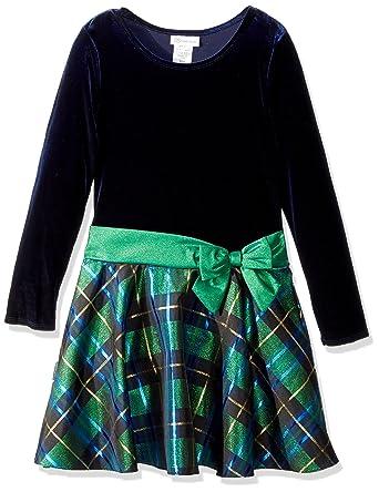 171bc920931 Bonnie Jean Girls' Toddler Hipster Dresses, Green/Blue Plaid, ...