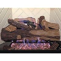 Sure Heat Juego de maderos de Cemento con Gas ventilado para Chimenea