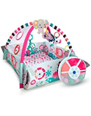 Bright Starts 5-in-1 Your Way Ball Play, Mat & Activity Gym with 35 Balls, 12 Toys and 20 Minutes of Lights and Music, Pink