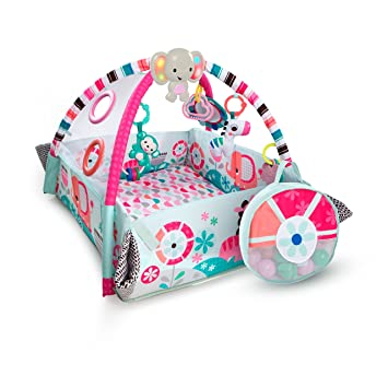 c25acc68d42 Amazon.com   Bright Starts 5-in-1 Your Way Ball Play Pink Activity Gym    Baby