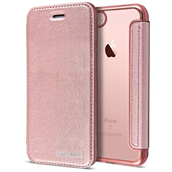 Rose Gold Leather Case for iPhone 7 6106fdfa38