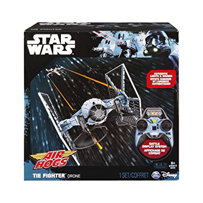 Air Hogs Star Wars Remote Control TIE Fighter Drone Indoor/Outdoor Vehicle: Toys & Games