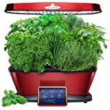 Miracle-GRO AeroGarden Bounty Elite with Gourmet Herb Seed Pod Kit, Red Stainless Steel