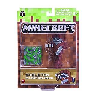 Minecraft 164877,6cm Action Figure–Scheletro in pelle armatura confezione 6cm Action Figure-Scheletro in pelle armatura confezione Jazwares Ind