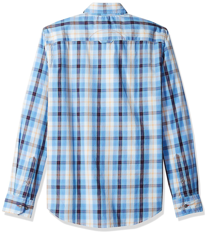 Badger Smith Mens Cotton Poplin Checks Slim Fit Button Down Shirt