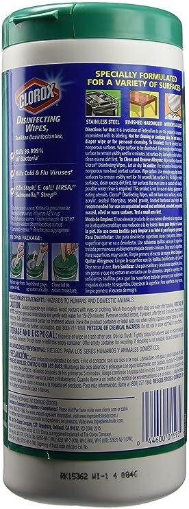 Clorox toallitas húmedas limón fresco y fresco aroma - 3 ct: Amazon.es: Salud y cuidado personal