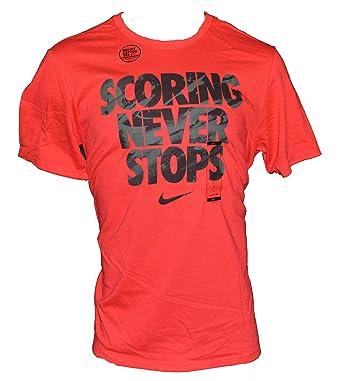 Nike Men\u0027s Nike Scoring Never Stops Basketball T-Shirt Large Red Black