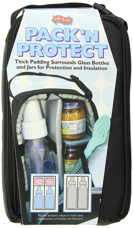 Amazon.com : JL Pack N Proteja de asas para botellas y frascos de vidrio, Negro : Baby