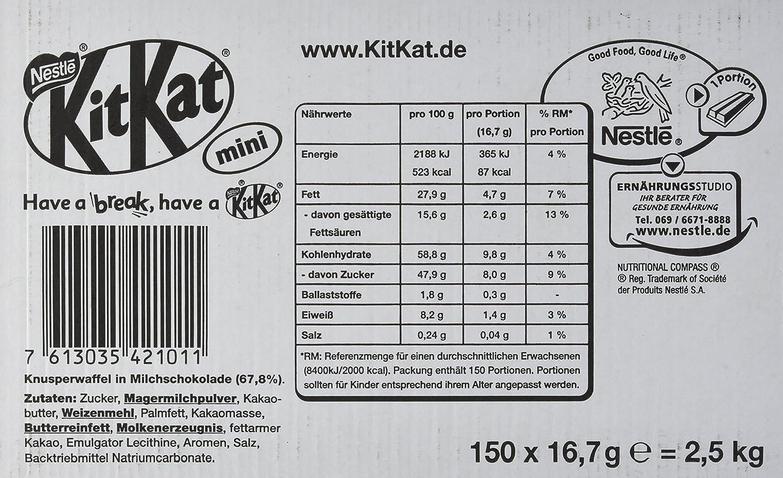 Nestlé KitKat Mini Bulk, 1 Karton à 150 Stück (2,4 kg): Amazon.de ...