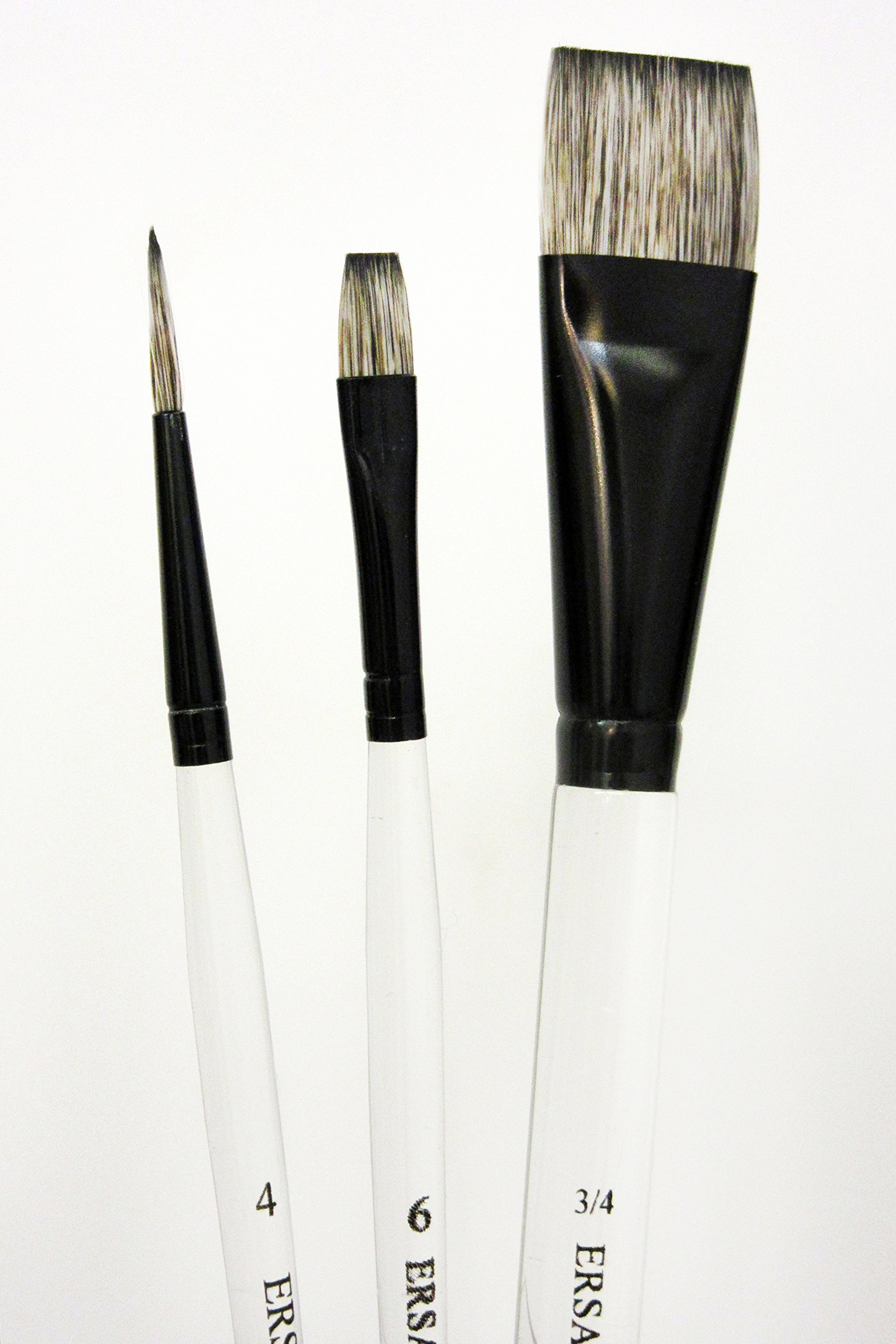 Beginner Brush Set for Paint It Simply (Short Handle) by Jansen Art Studio