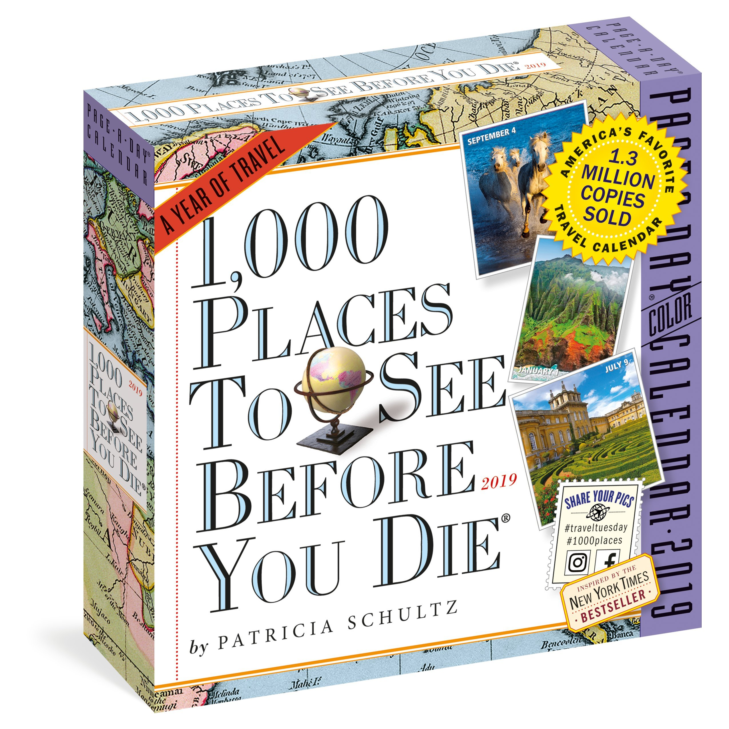 1000 Places to See Before You Die Page-A-Day Calendar 2019 Calendar – Day to Day Calendar, 1 Aug 2018 Patricia Schultz Workman Publishing 1523503513 Address Books