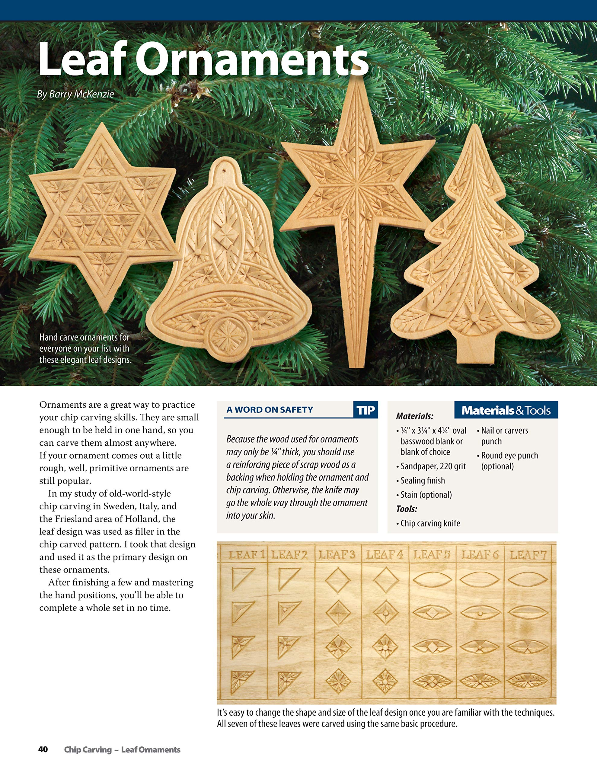 Gauge chip carving snowflakes carving magazine