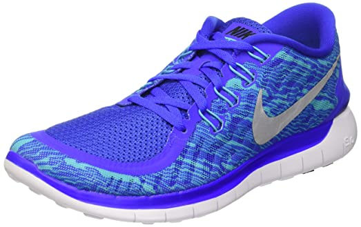 Nike Men's Free 5.0 Print Rcr Bl/Rflct Slvr/Gmm Bl/White Running