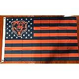 Chicago Bears 3 Feet x 5 Feet Stars and Stripes Flag Banner Bar Decor Man Cave