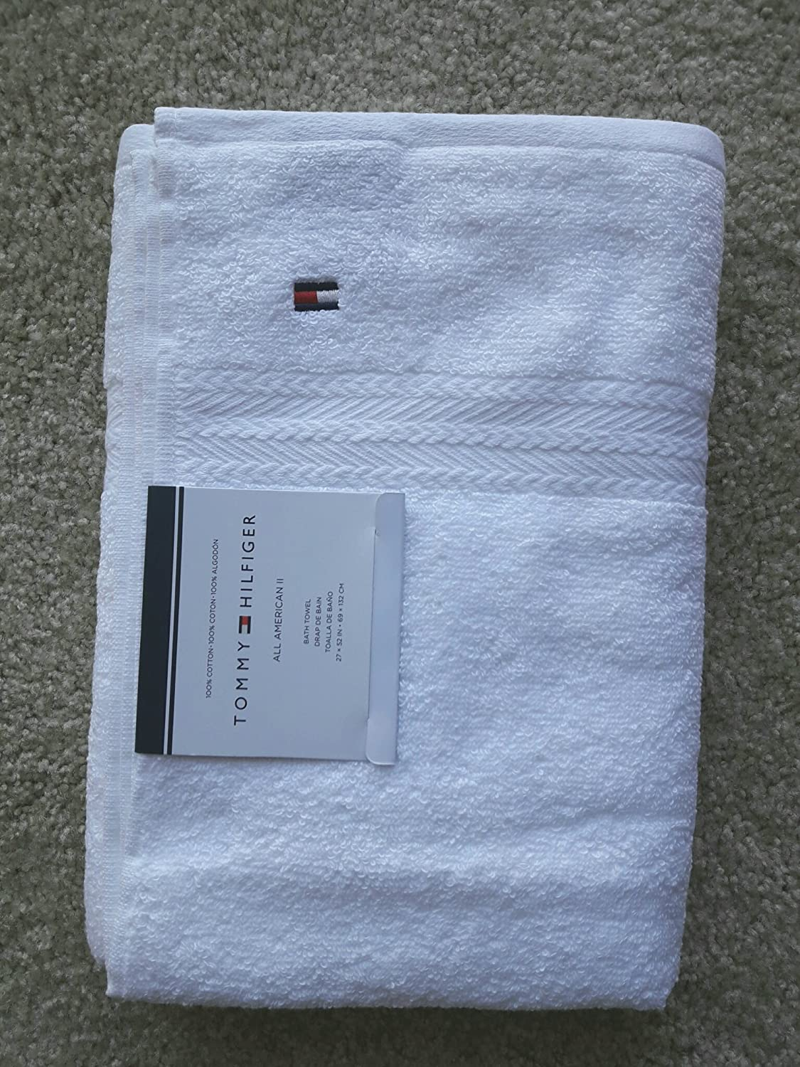 Amazon.com: Tommy Hilfiger All American II Bath Towel 27