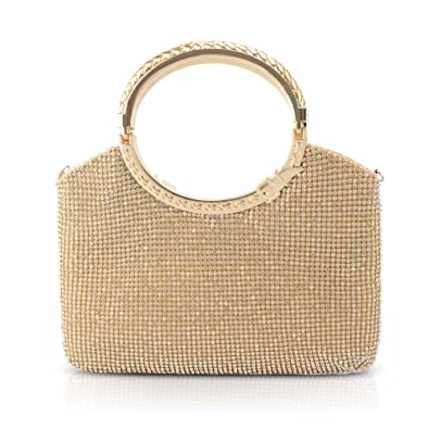 Amazon.com: kaever Women Rhinestone embragues bolsos bolsas ...