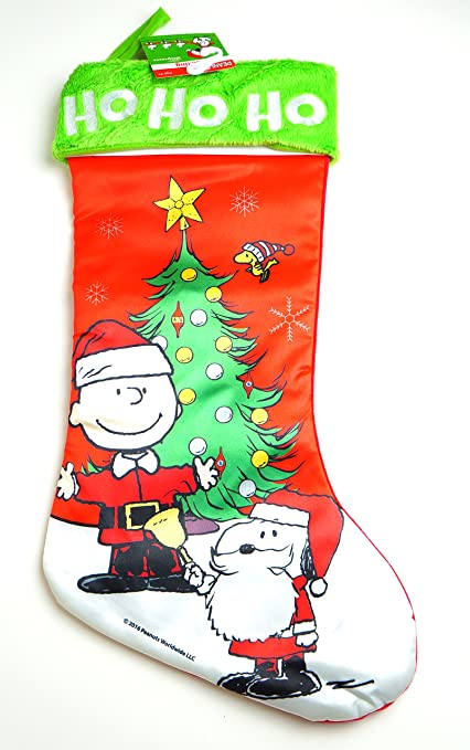 19 peanuts charlie brown christmas stocking ho ho ho charlie brown and snoopy - Snoopy Christmas Stocking