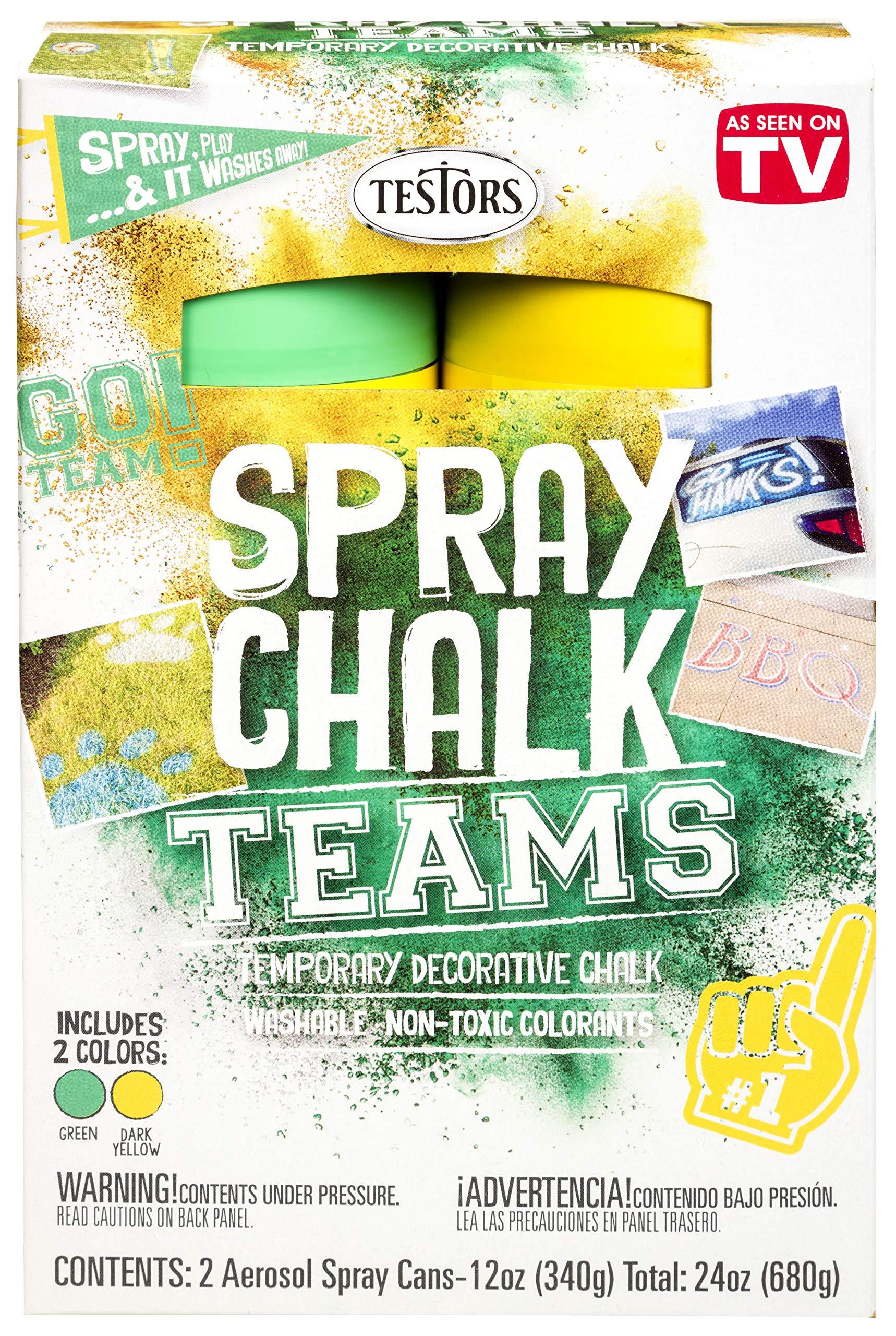 Testors 334335 Teams Spray Chalk, Green/Dark Yellow by Testors