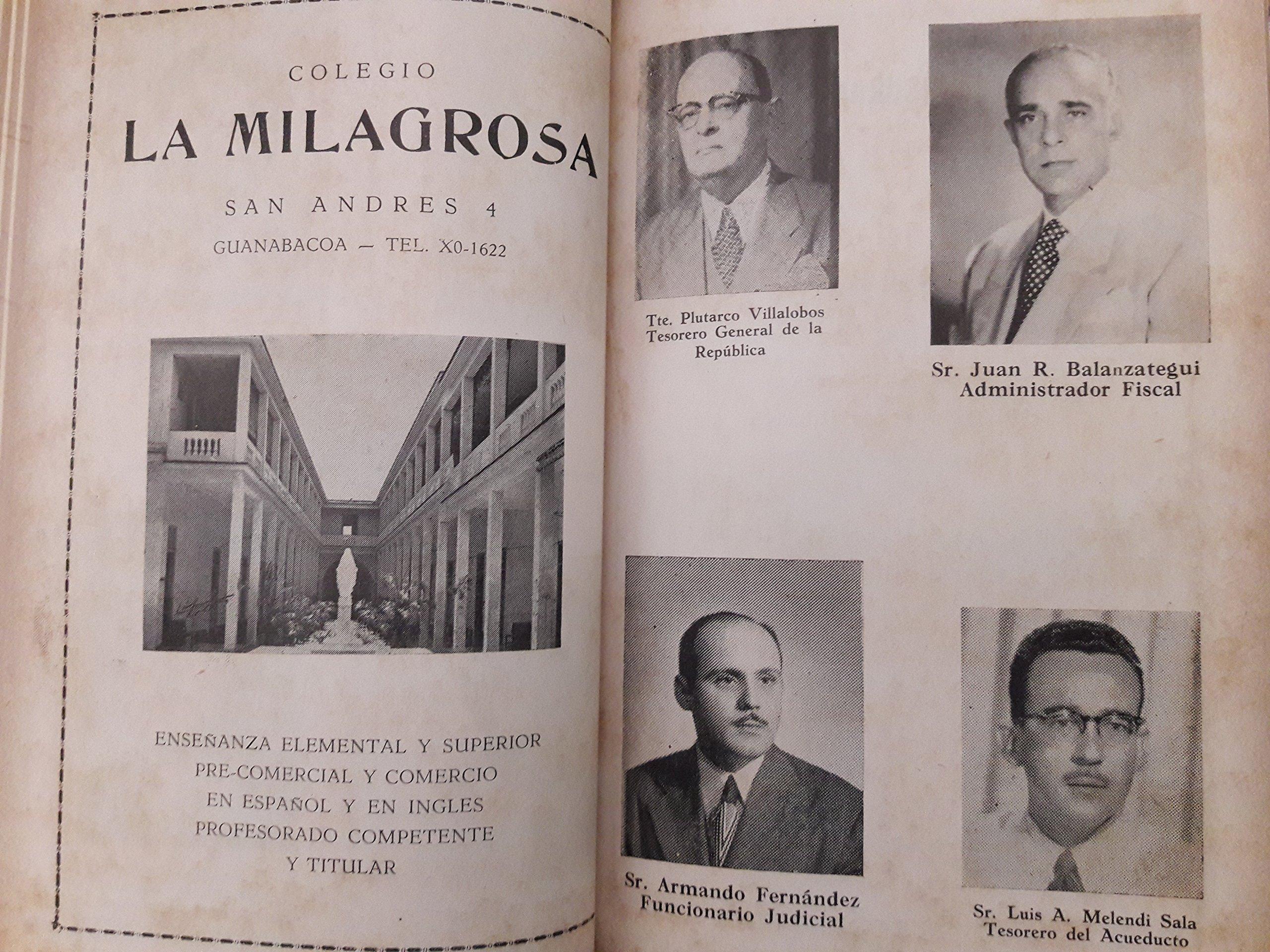 Directorio social, profesional, comercial, e industrial de guanabacoa, habana, cuba.1957.: nena marcos Luis santamaria: Amazon.com: Books