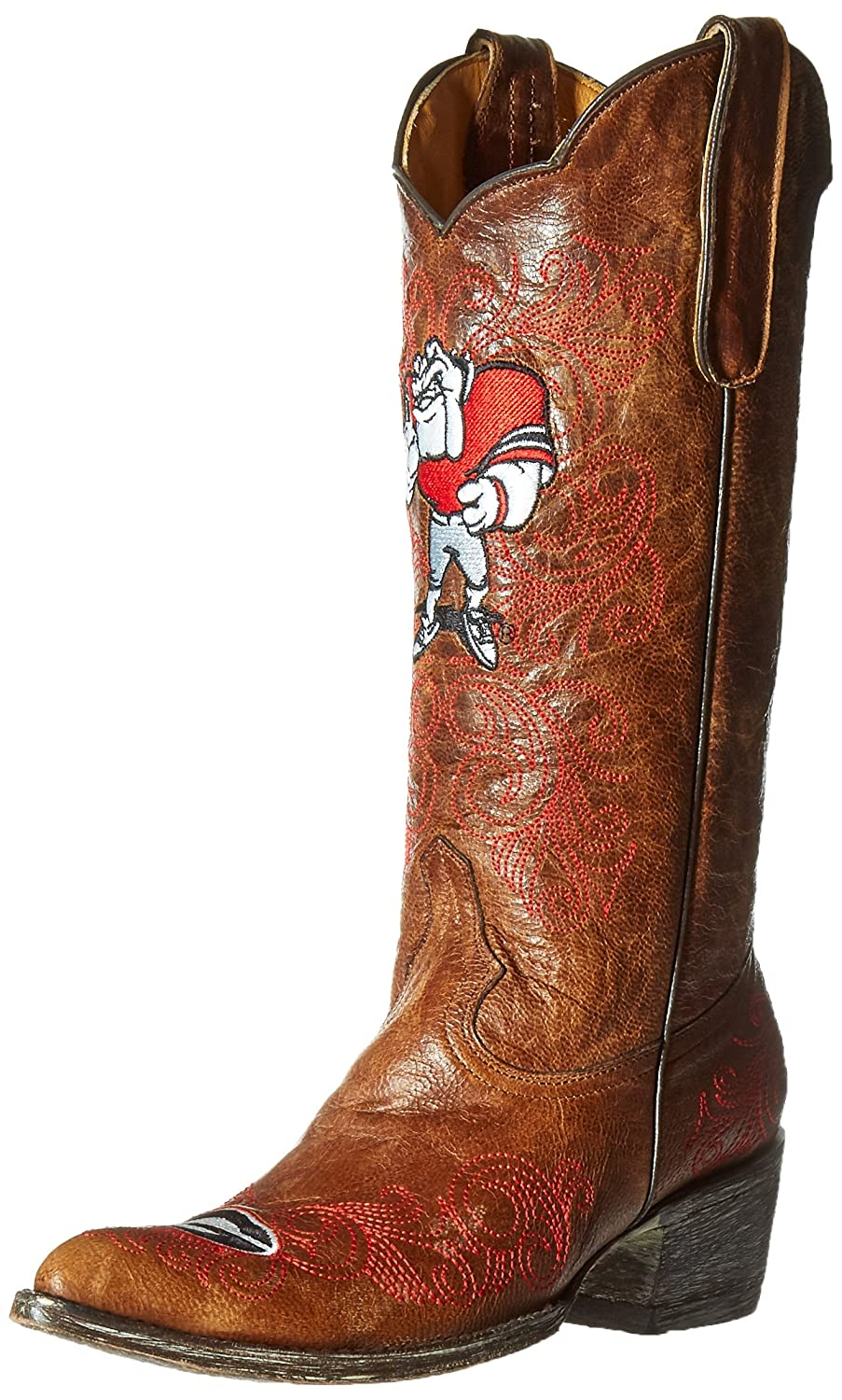 Gameday Boots NCAA Georgia Bulldogs Women's 13-Inch B00A8O4LEO 5.5 B (M) US|Brass