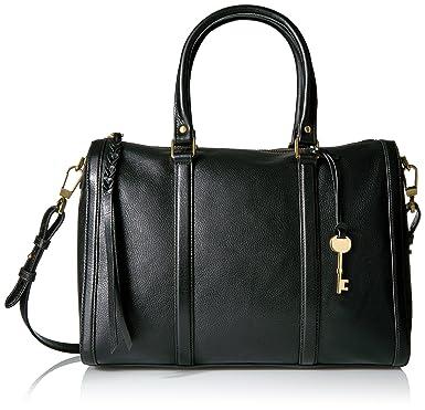 Fossil Kendall Large Satchel, Black: Handbags: Amazon.com