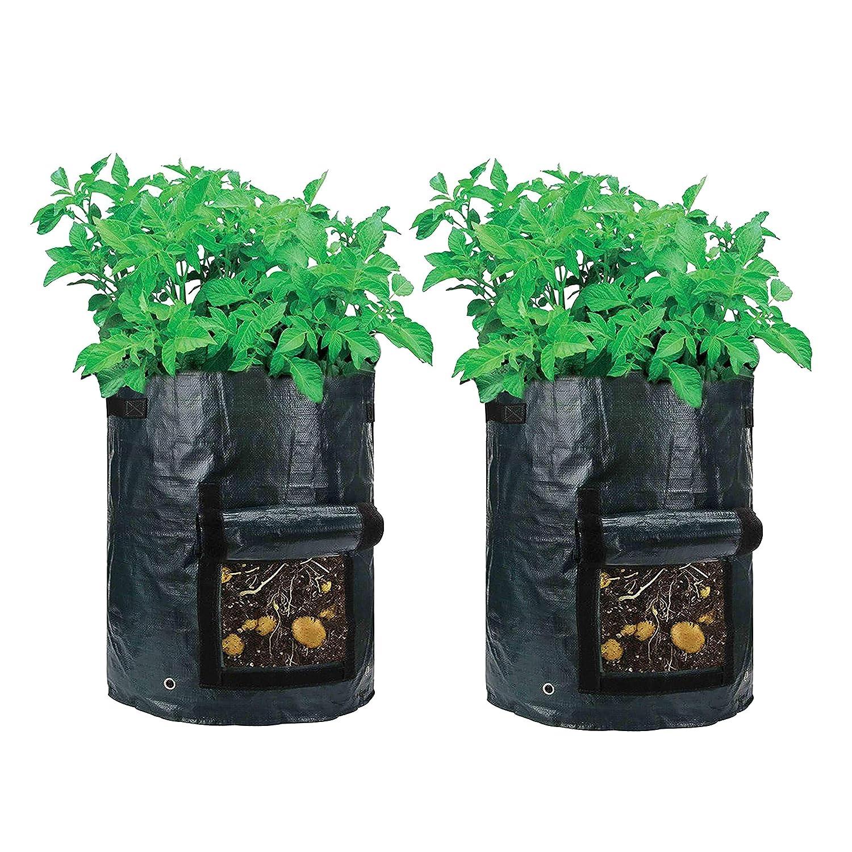 Qh Shop Bolsa De Cultivomacetas De Tela Para Jardin Verde Oscuro - Tela-para-jardin