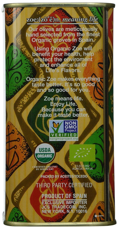 Amazon.com: Zoe Organic Extra Virgin Olive Oil 25.5 FL. OZ. Tin ...