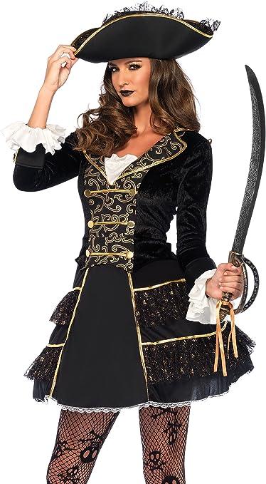 Leg Avenue 85549 2 piezas Set de Capitán Pirata, mujer Carnaval ...