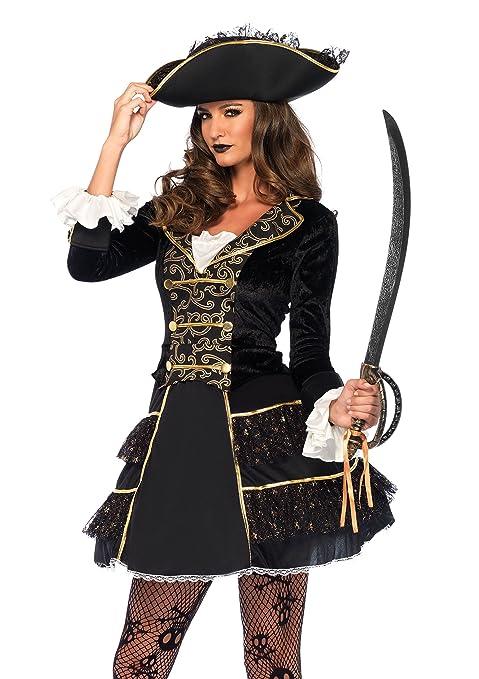 ultima moda ricco e magnifico bambino Leg Avenue 2 Pezzi Set Alto Lago di Pirata Capitano, Donna Carnevale  Costume di Carnevale