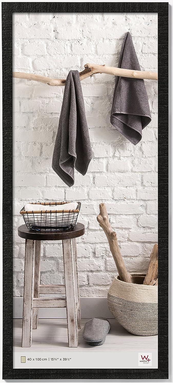 Amazon.de: walther design HO400B Home Holzrahmen, 40 x 100 cm, schwarz