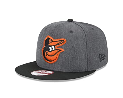 22572fc598d Amazon.com   New Era MLB Baltimore Orioles Heather 9Fifty Snapback ...