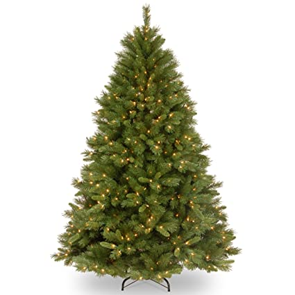 national tree 75 foot winchester pine tree with 500 clear lights hinged wch7 - Amazon Christmas Tree Stand