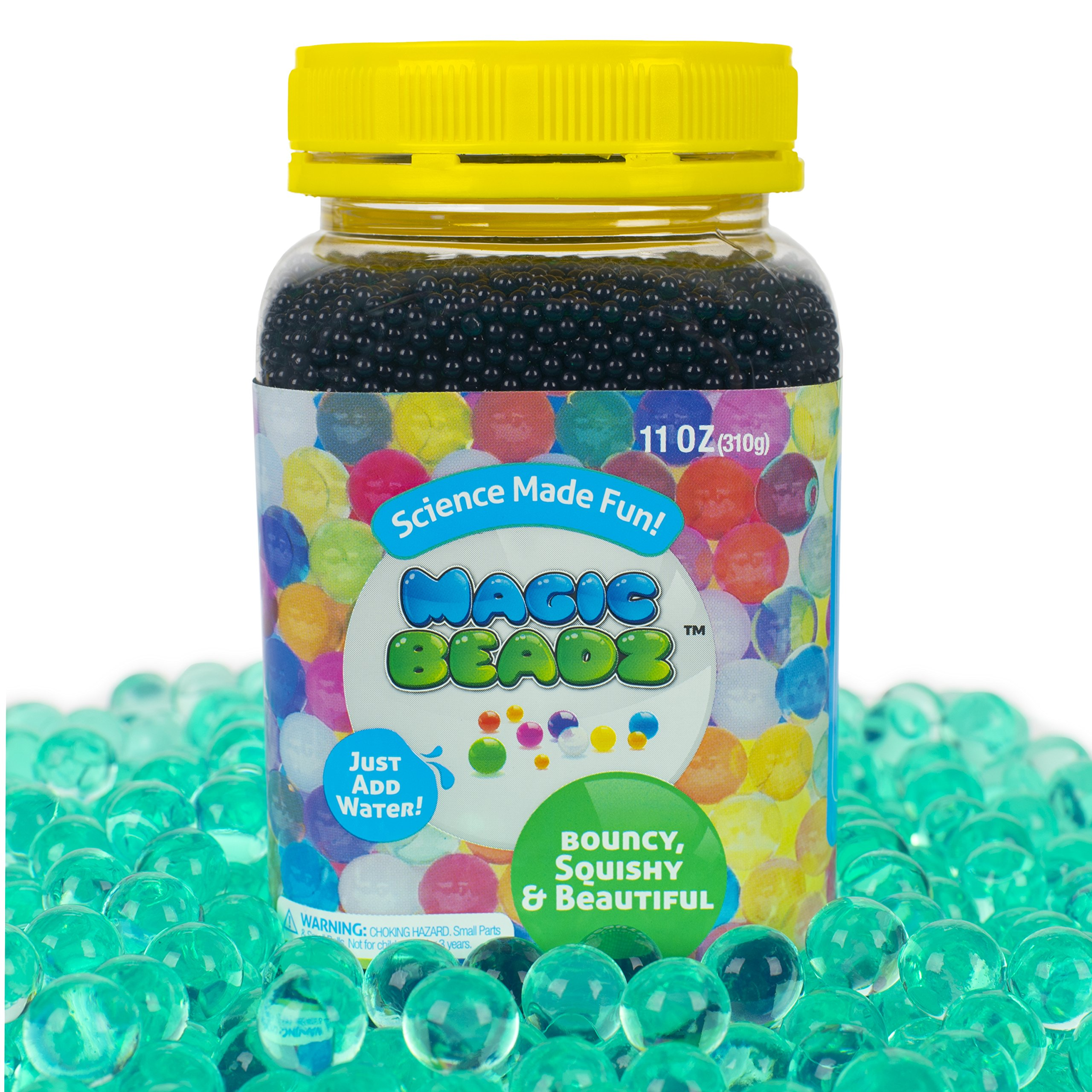 Magic Beadz Turquoise Green Gel Water Beads - Transparent Jelly Pearls - Vase Filler - Wedding Centerpiece - Candles - Flower Arrangements - Over 30,000 Beads - 11oz Jar Makes Over Ten Gallons