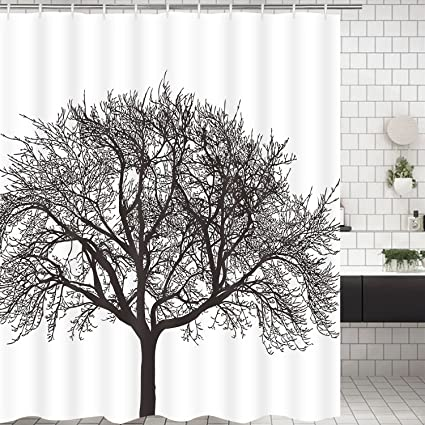 Amazoncom Modern Timesm Bathroom Shower Curtain Mocha Tree