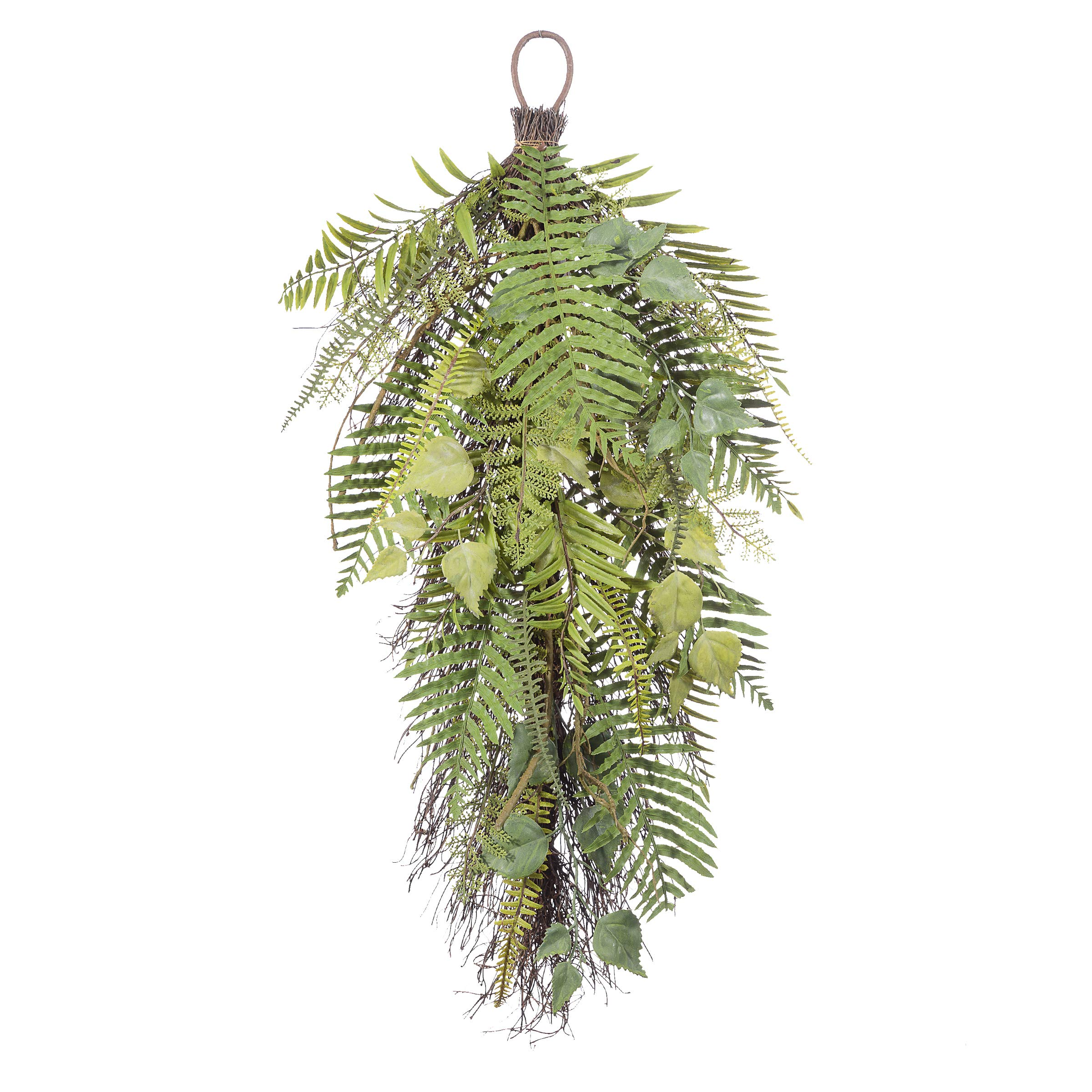 Darice Plastic Mixed Fern Leaves Teardrop: Green, 30 inches