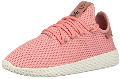 adidas Pharrell Williams Tennis HU (Kids) (7), Pink Tactile Rose Footwear White