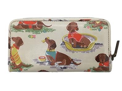 95b68de3e2dc Cath Kidston zip around oilcloth wallet sausage dog cream: Amazon.co ...