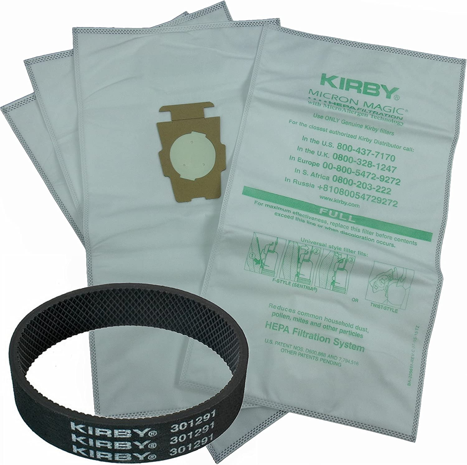 Genuine Kirby Micron Magic HEPA Filtration Universal Style 1 Non Genuine Belt