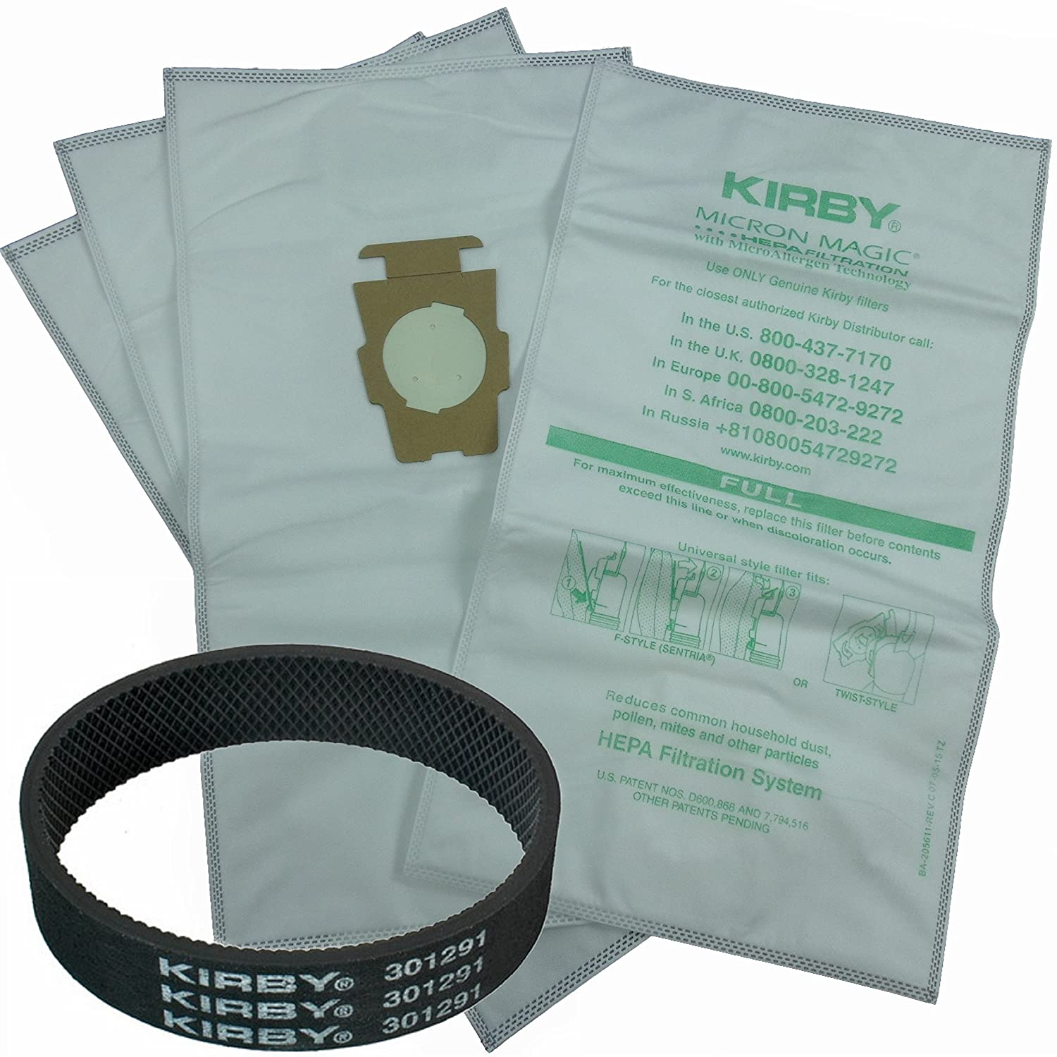 4 Kirby Allergen Micron Magic Universal F Style Turn G6 Wiring Diagrams Vacuum Bags 1 Belt