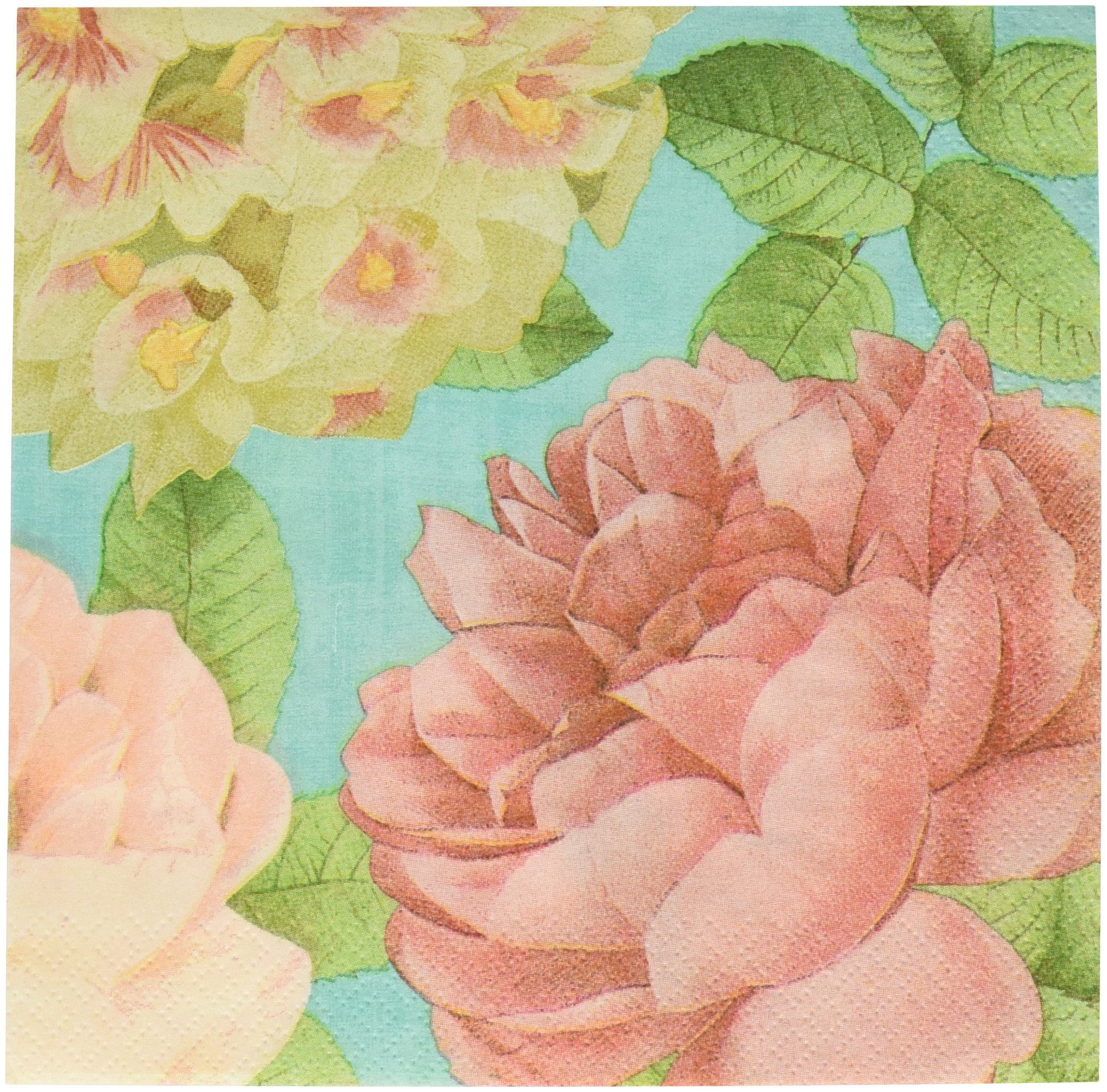 Amscan Blissful Blooms Napkin Floral Garden Party Tableware, 36 Pieces, Made from Paper by by Amscan