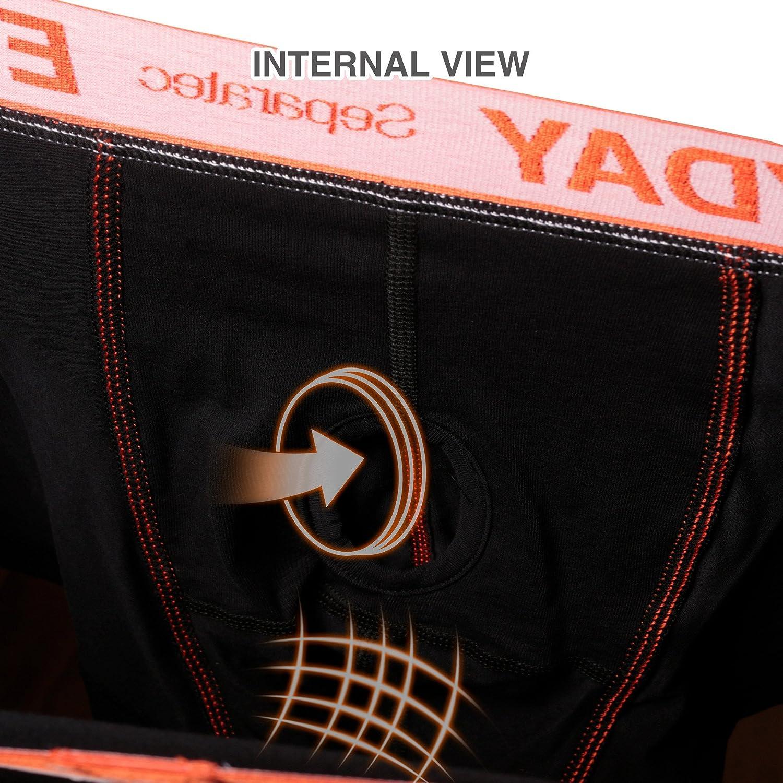 Separatec 7pack Multicolour f/ür allt/ägliche Herren-Boxershorts Atmungsaktive Unterw/äsche-Shorts aus weicher Baumwolle mit unterst/ützender separater Doppeltasche