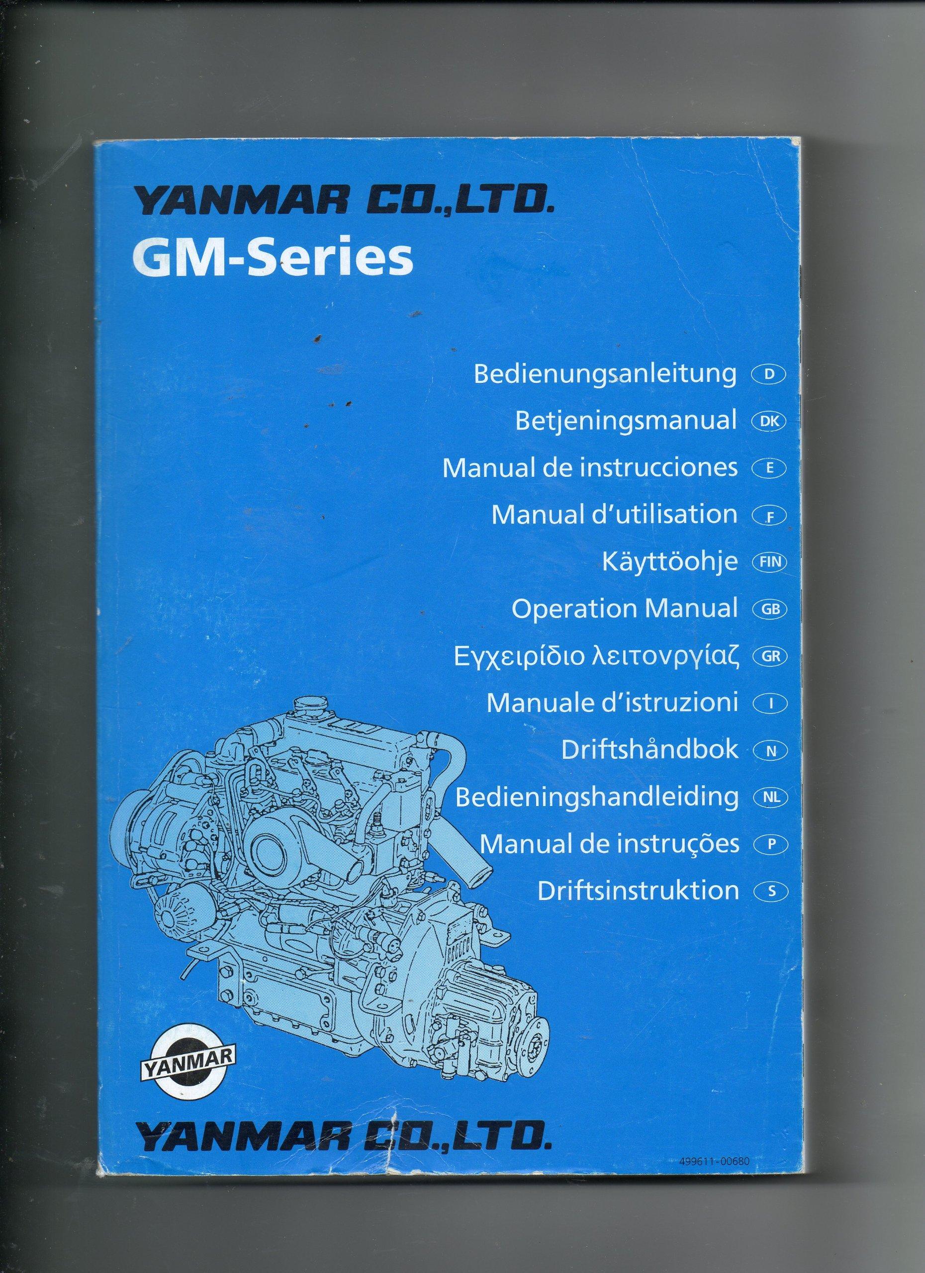 Yanmar GM-Series Marine sel Engine Operaton Manual Models ... on